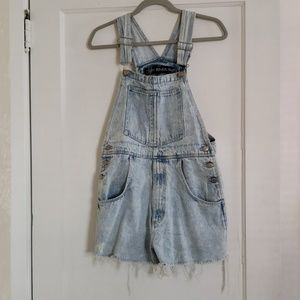 Vintage fringe Canyon River Blues cutoff overalls